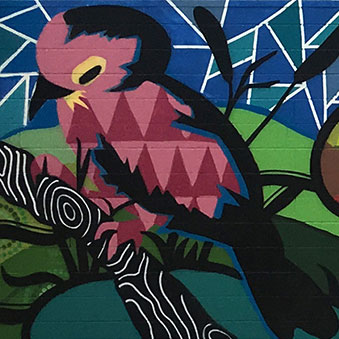 MURAL ON YUGAMBEH COUNTRY